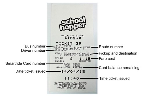Schoolhopper Smartride Card Ticket