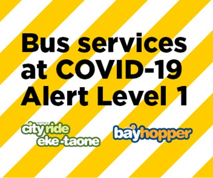 Public Transport & Total Mobility in the Bay of Plenty under COVID-19 Alert Level 1